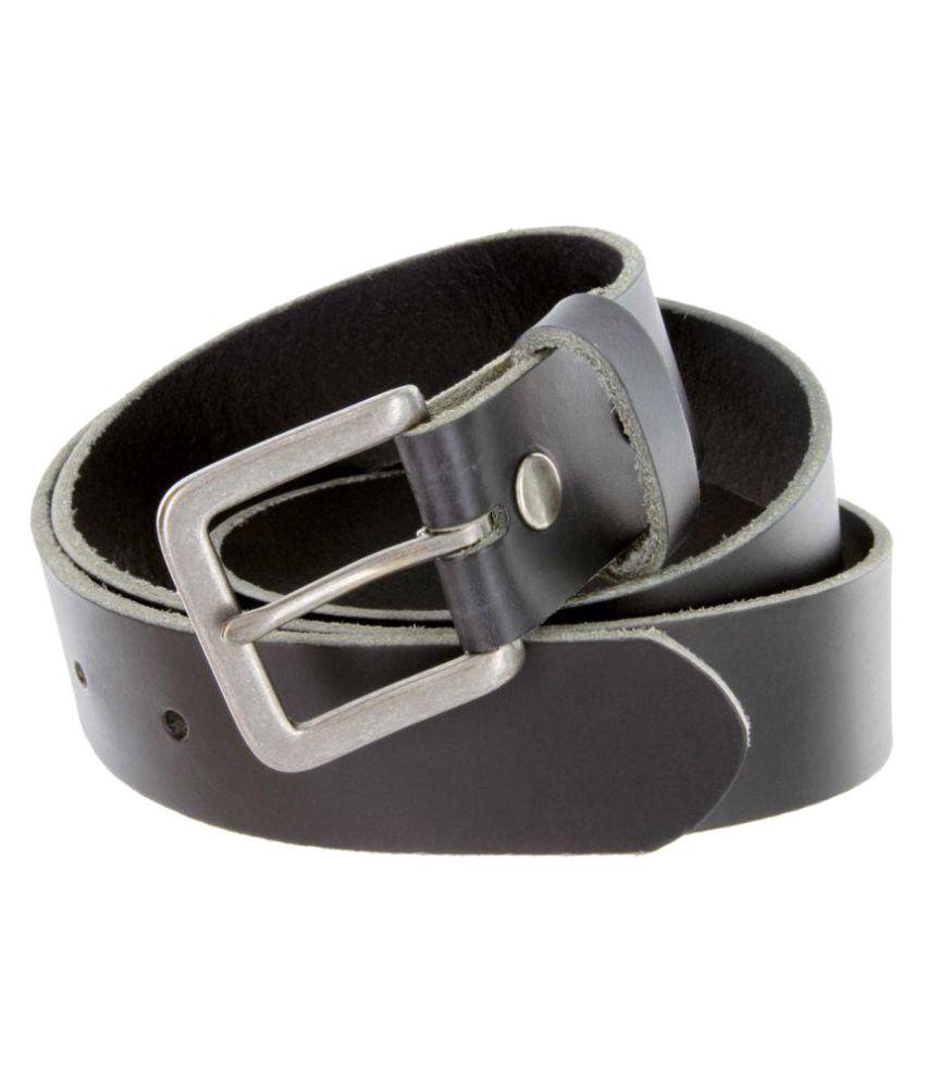 Leathersign Black Leather Formal Belts
