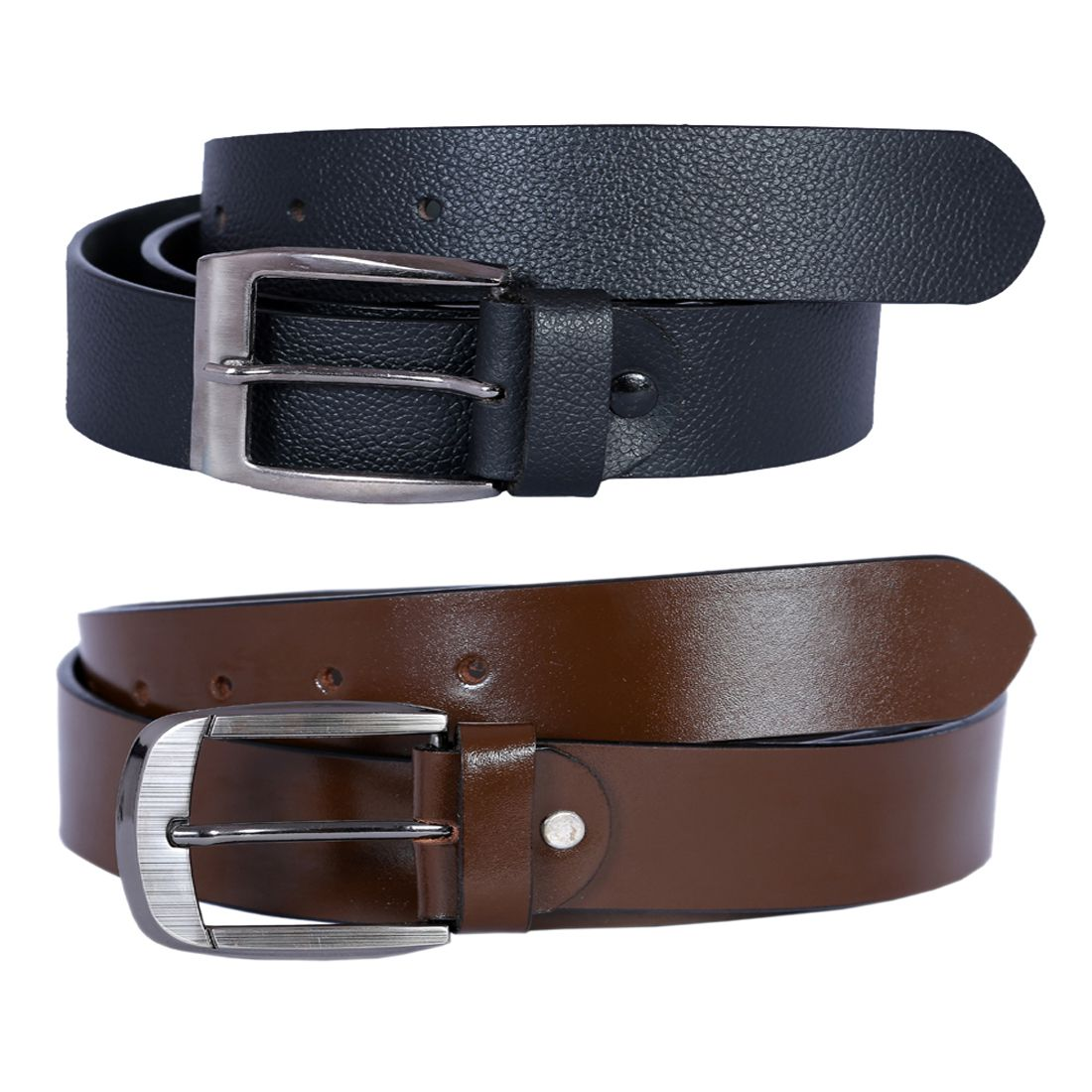 Kritika's World Multi Leather Casual Belts Pack of 2