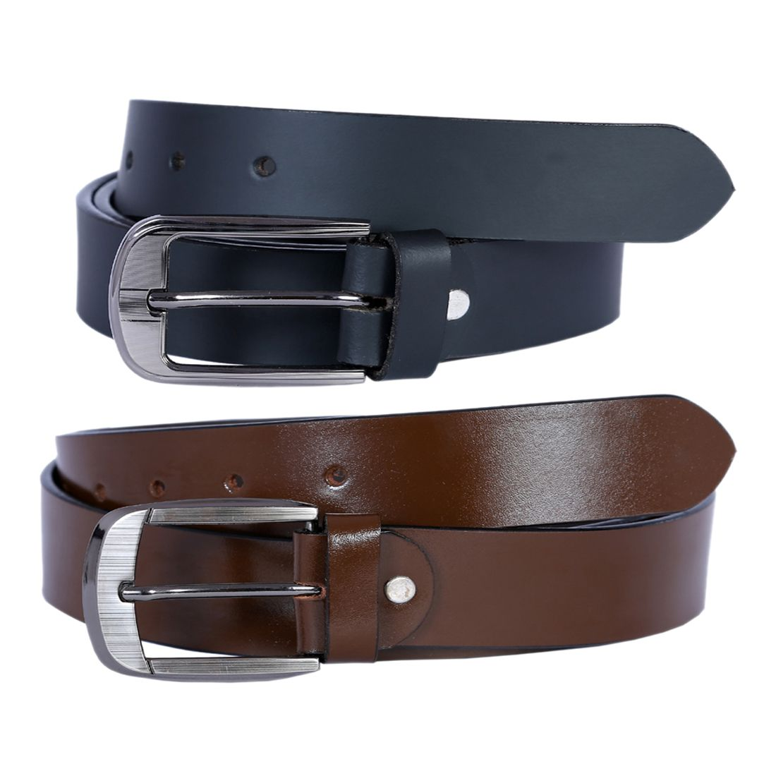 Hardys Collection Multi Leather Casual Belts Pack of 2