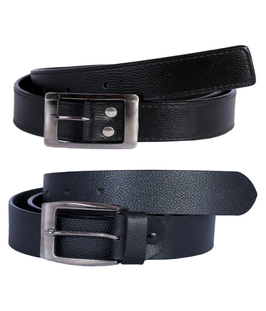 Hardys Collection Black Leather Casual Belts