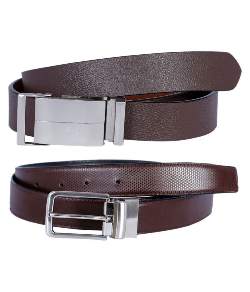 Kritika's World Brown Leather Casual Belts