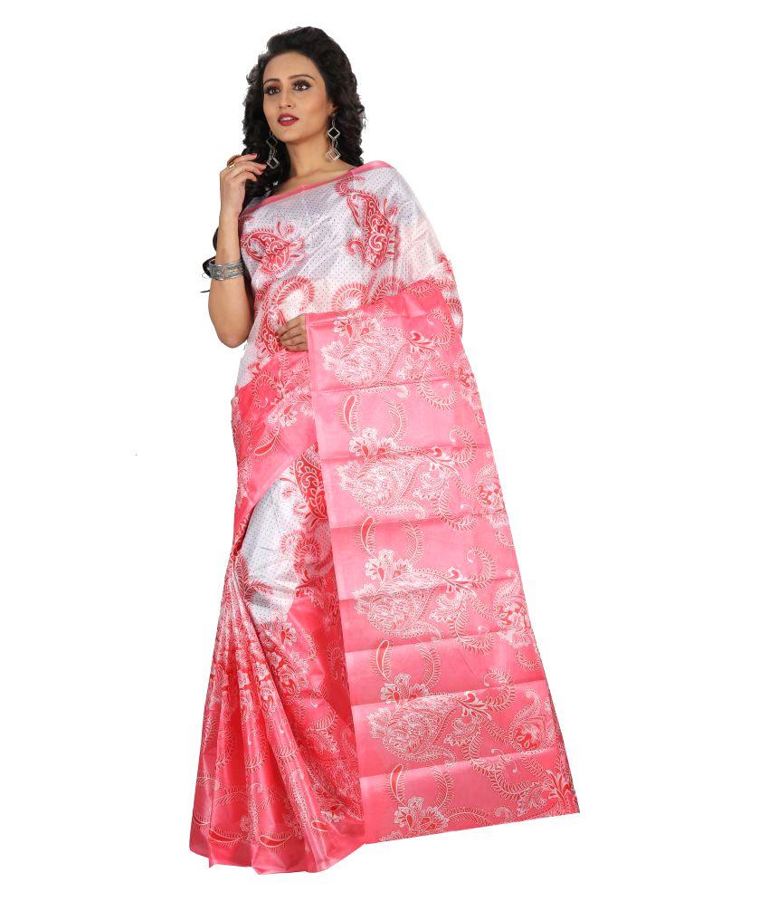 Sharda Creation Multicoloured Art Silk Saree