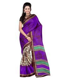 Womens Ethnic Multicoloured Art Silk Saree