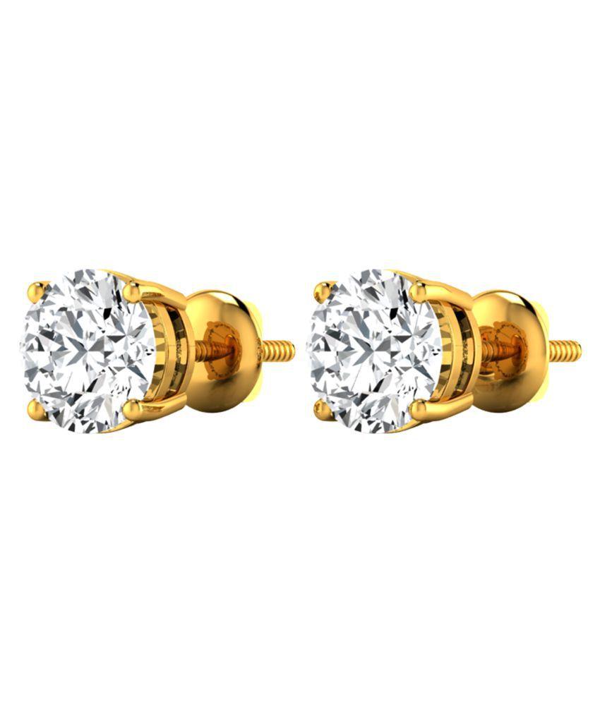 Diamond Farm 18k BIS Hallmarked Yellow Gold Diamond Studs