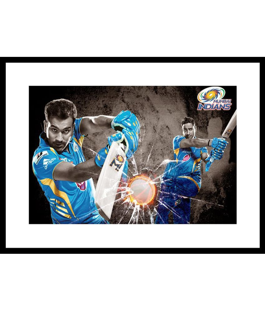 Myimage Mumbai Indians Paper Photo Wall Poster With Frame Single Piece