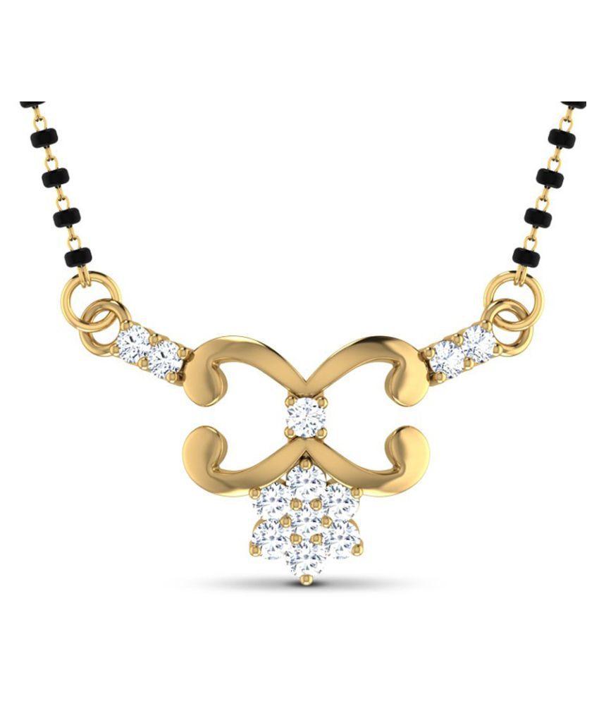 Jacknjewel 18k Gold Diamond Mangalsutra