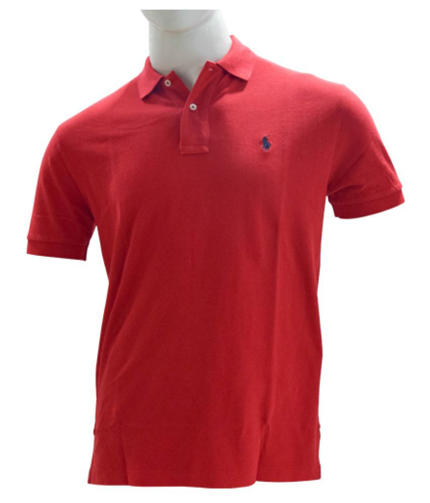 Ralph Lauren Polo Maroon Cotton Polo T-shirt