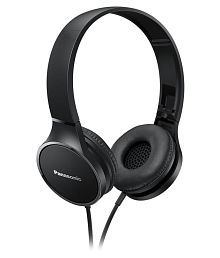 Panasonic RP-HF300 On Ear Wired Headphones Without Mic Black