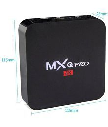 MXQ PRO Amlogic S905X Android 6.0 1GB RAM 8GB ROM Android TV Box Quad Core Set Top XBMC 4K Wifi Media Streaming Device (Black)