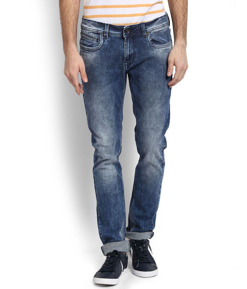 Peter England Blue Skinny Jeans