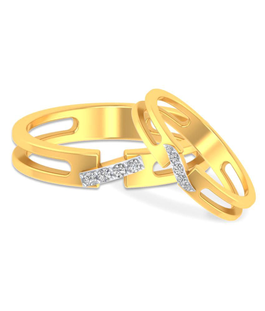 P.N.Gadgil Jewellers 18k Yellow Gold Couple Bands