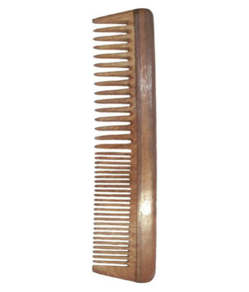 Ginni Neem Wood Comb Regular with Wide Teeth Wide tooth Comb