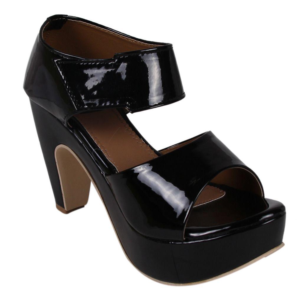 DICY Black Cone Heels