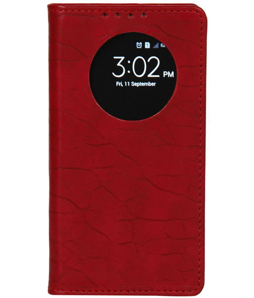 Huawei Honor 4C Flip Cover by Dsas - Red
