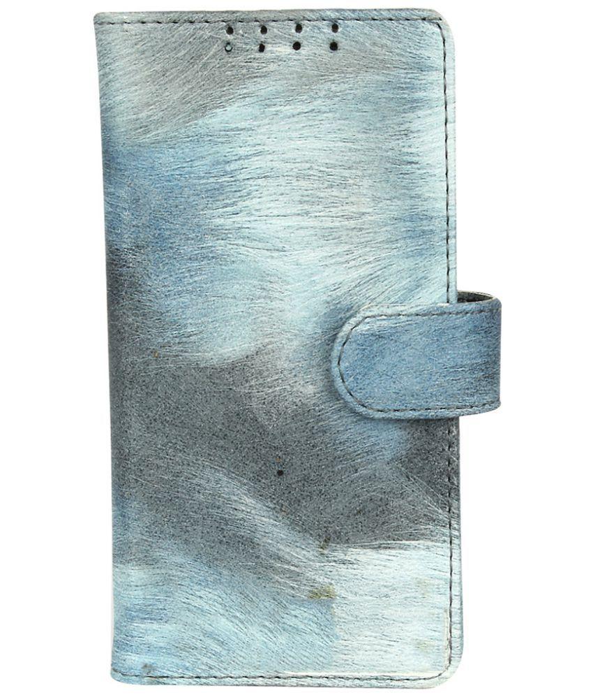 Samsung Galaxy On7 Flip Cover by Dsas - Blue
