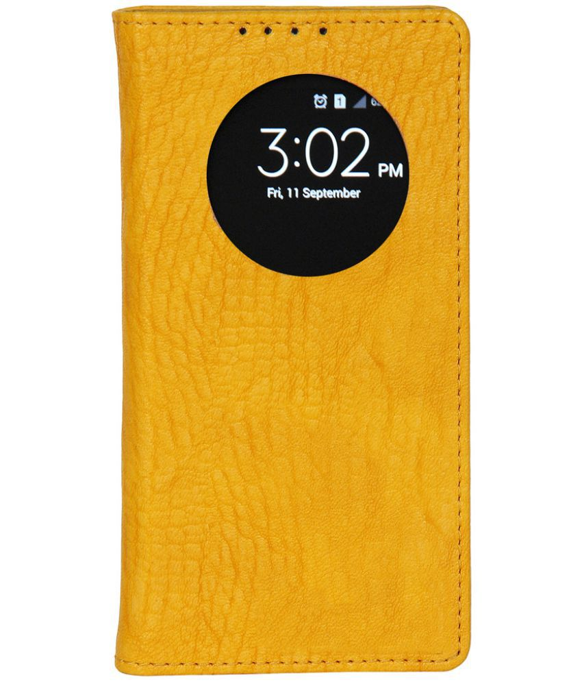 Samsung Galaxy On7 Flip Cover by Dsas - Yellow
