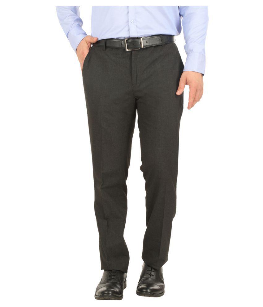 Donear NXG Black Slim Flat Trousers
