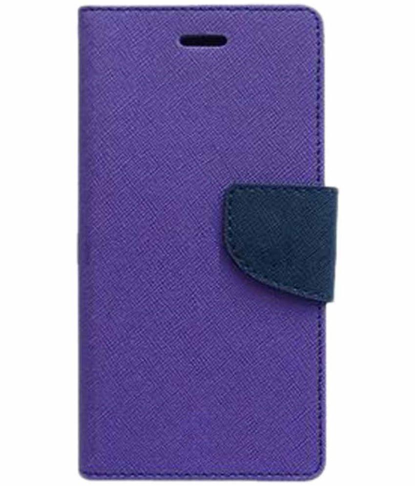 Samsung Galaxy C7 Flip Cover by Kosher Traders - Purple