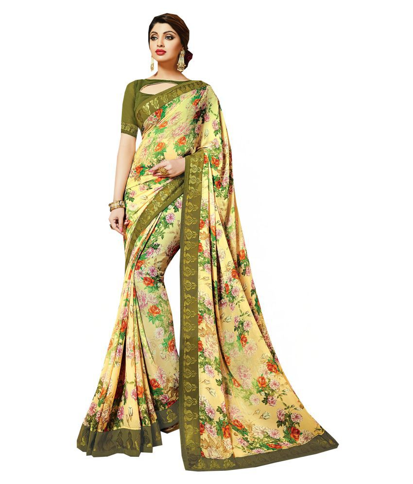 Nikki Fab Multicoloured Georgette Saree