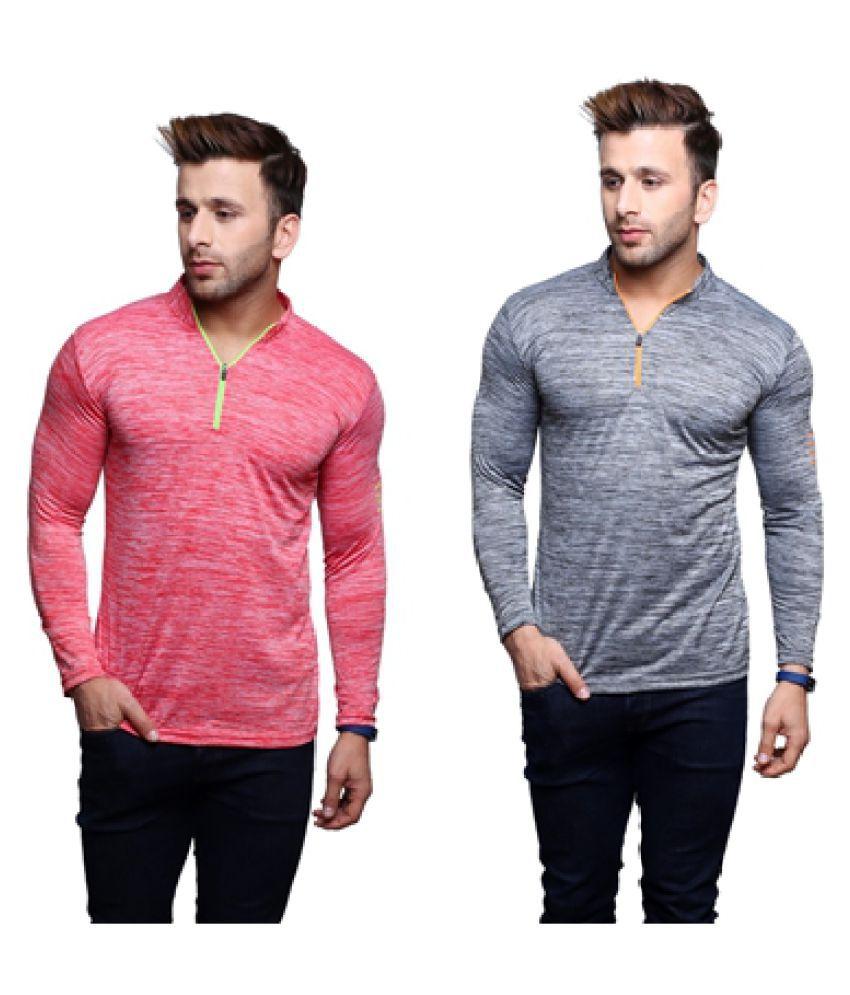 Fashion Beats Multi Henley T-Shirt Pack of 2