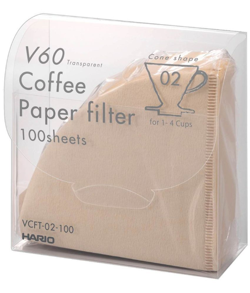 HARIO V60 paper filter transparent coffee drip 02M 1 ~ bleached look 4 100 sheets for people entering VCFT-02-100M Japan Import.: Buy Online at Best Price ...