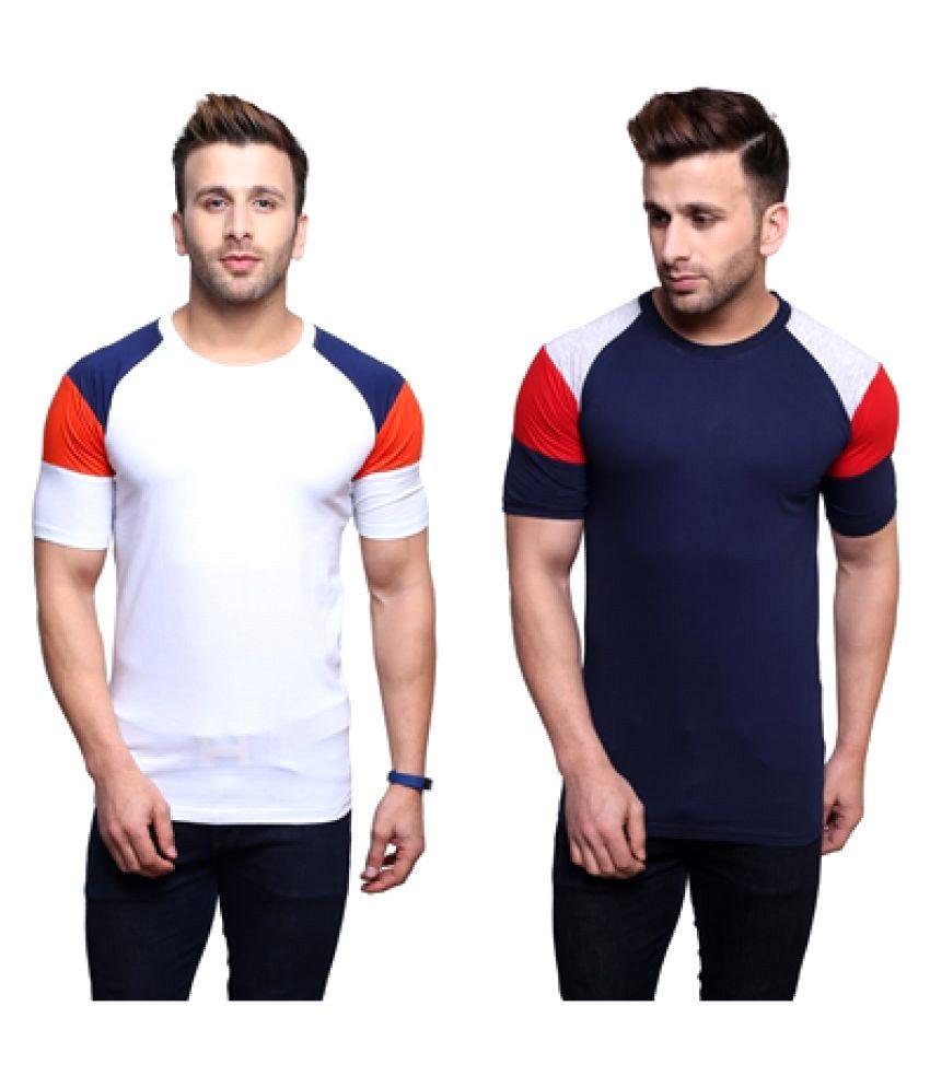 Nagru Multi Round T-Shirt Pack of 2