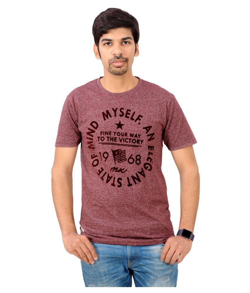 Rayon Brown Round T-Shirt