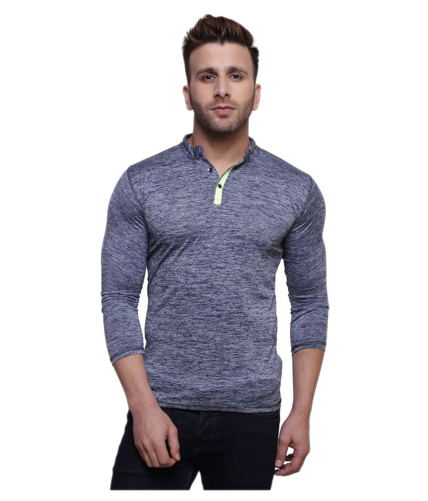 Nagru Black Henley T-Shirt