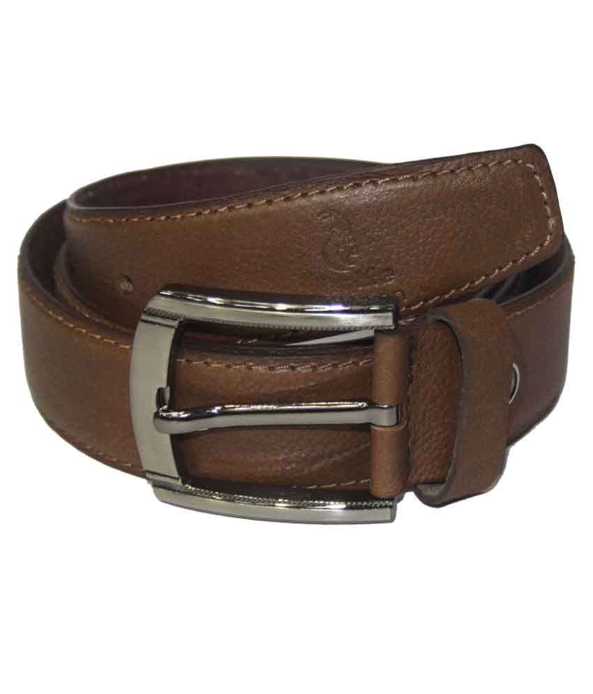 HugMe.Fashion Brown Leather Formal Belts