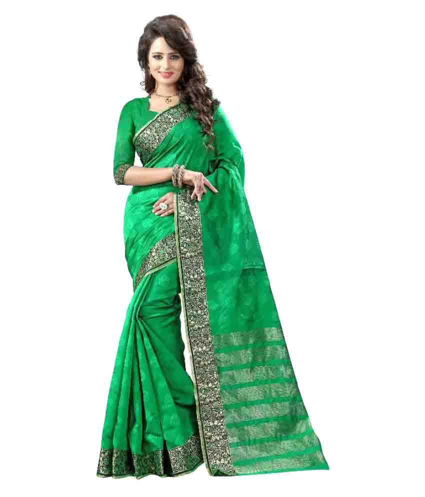 KalashreeFashion Green Art Silk Saree