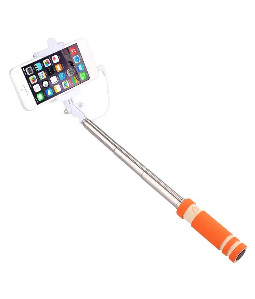 m stark aux wire selfie stick orange selfie sticks accessories onli. Black Bedroom Furniture Sets. Home Design Ideas