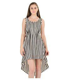 Sassy Stripes Poly Cotton Asymmetric Dress - 672891817689