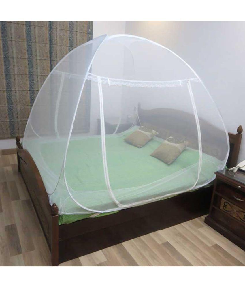 Healthgenie Double White Plain Mosquito Net