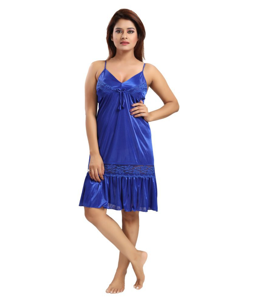 Be You Satin Baby Doll Dresses Without Panty
