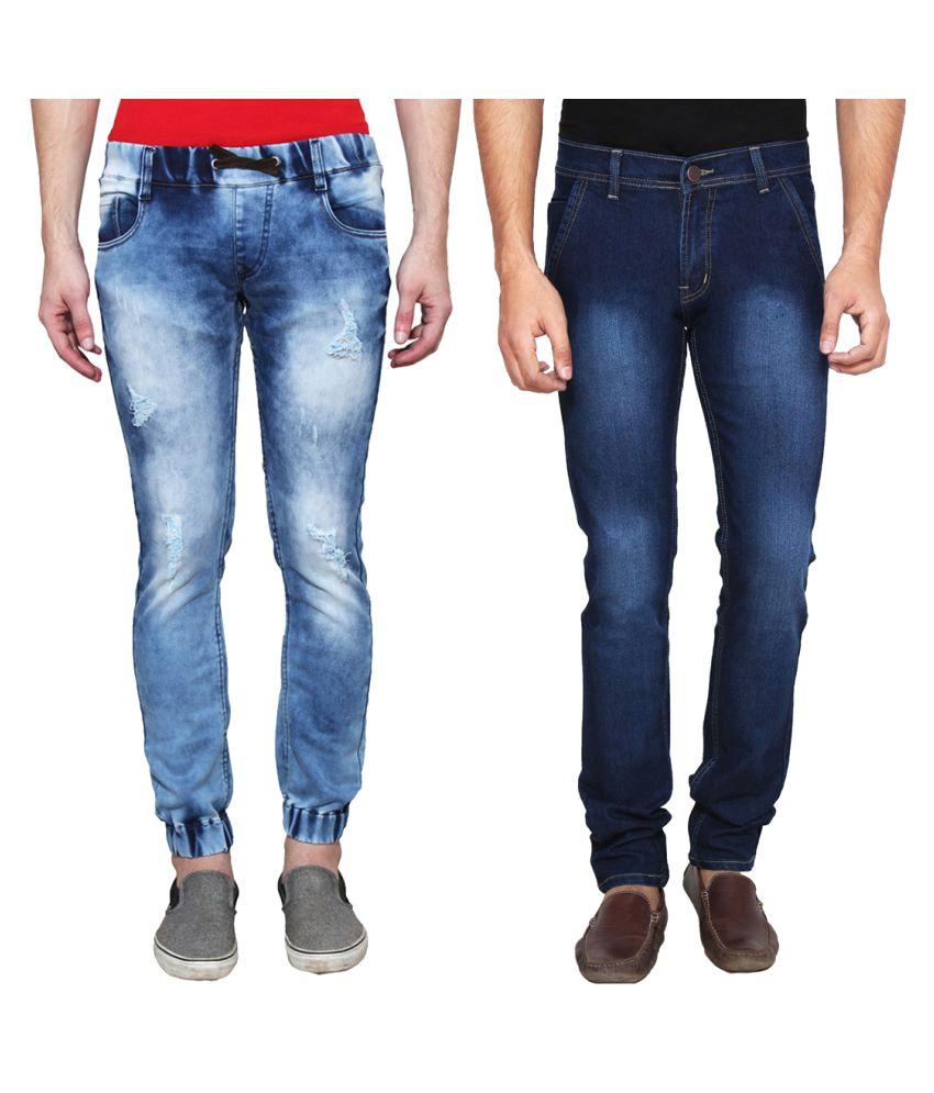Ansh Fashion Wear Blue Regular Fit Jeans