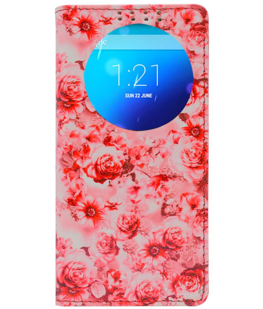 Samsung Galaxy A7 2016 Flip Cover by Dsas - Pink