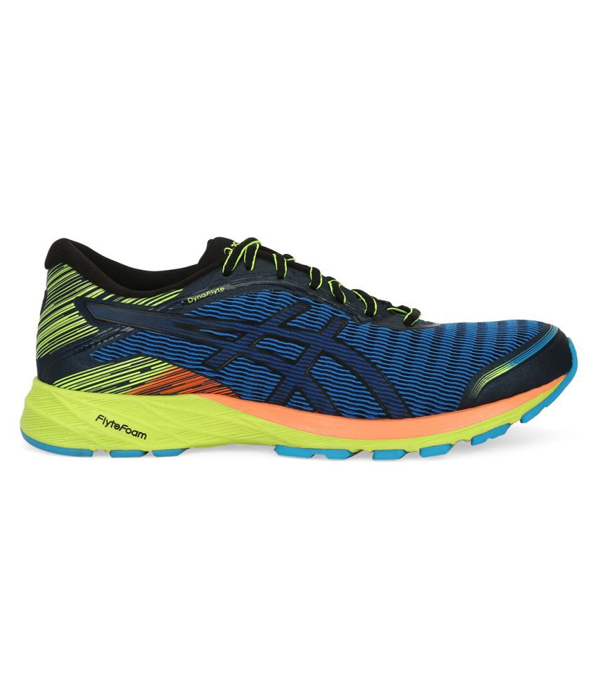 reputable site f2e9a 076cb Asics DynaFlyte Blue Running Shoes