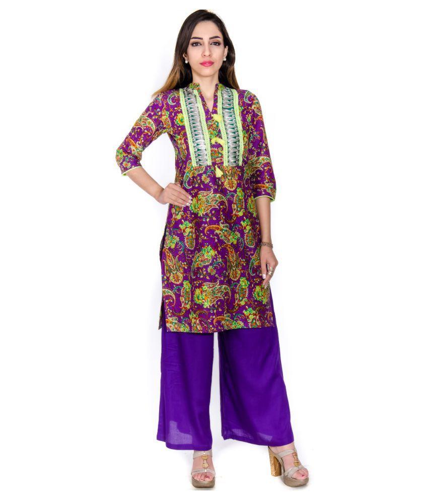 Gaurangi Multicoloured Cotton Straight Kurti