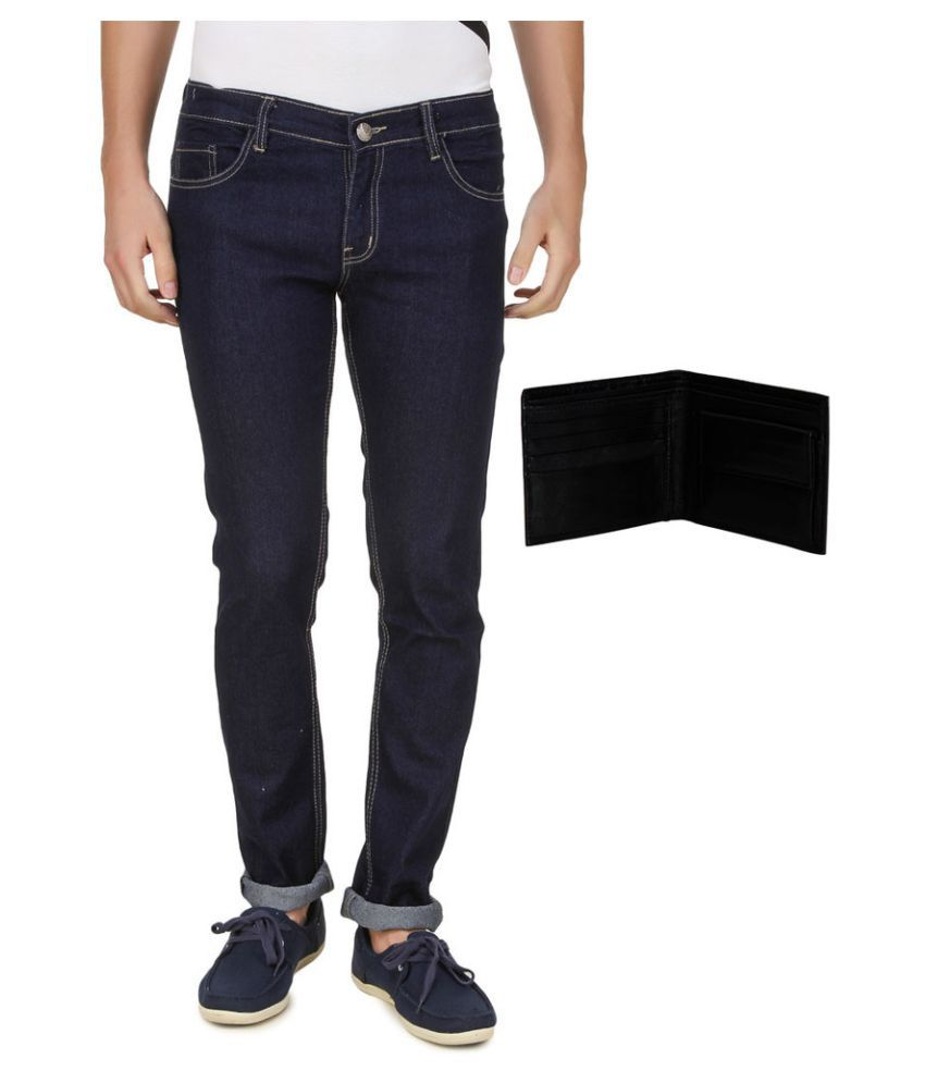 Haltung Blue Slim Jeans with Wallet