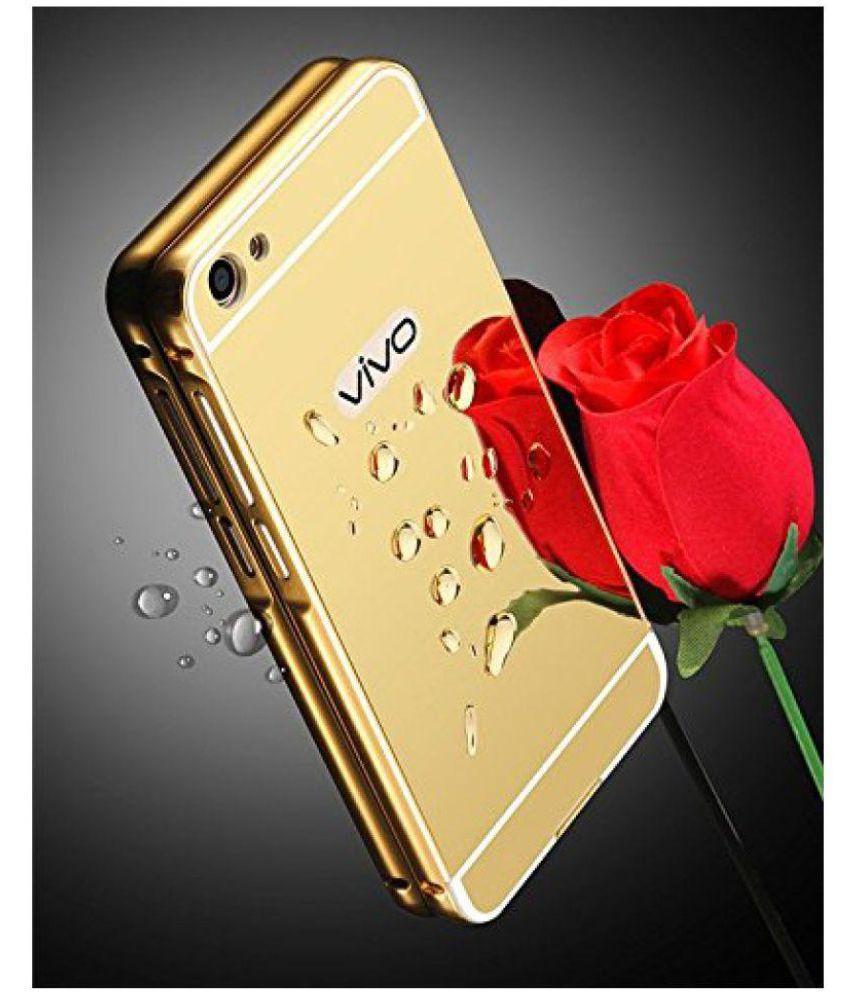 Vivo V5 Mirror Back Covers Doyen Creations - Golden