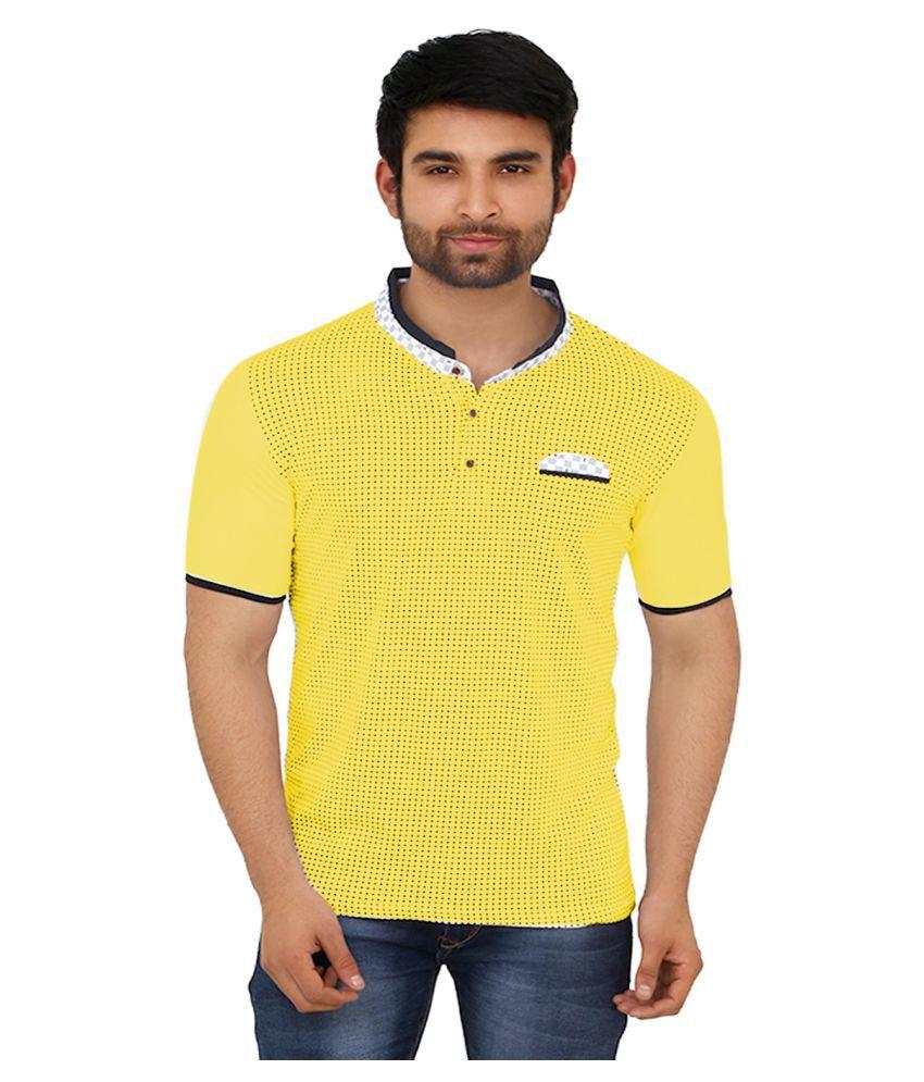 Black Unicorn Yellow Cotton T-Shirt