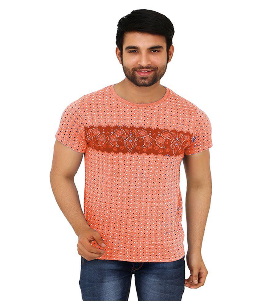 Black Unicorn Orange Cotton T-Shirt