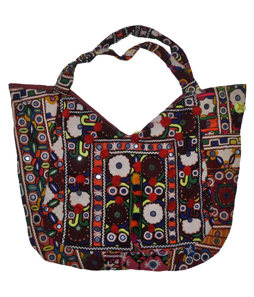 Lal Haveli Multi Pure Leather Tote Bag