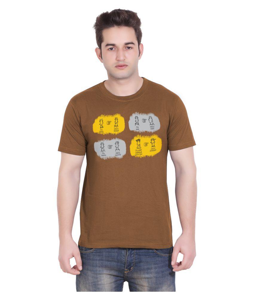 Tantra Brown Round T-Shirt