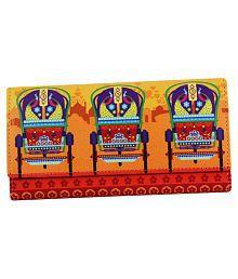 Mad(e) In India Multi Faux Leather Box Clutch