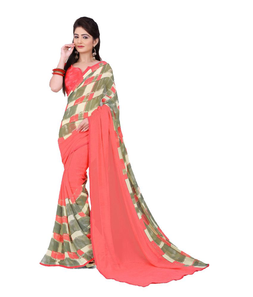 Bahubali Multicoloured Georgette Saree  available at snapdeal for Rs.802