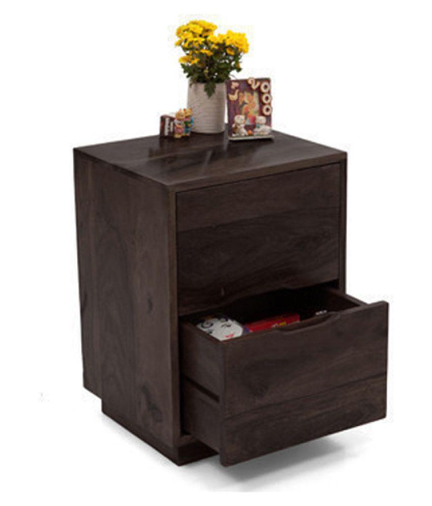 Inhouz Yephez Solid Wood Bedside Table