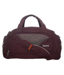 Space Purple Solid Duffle Bag