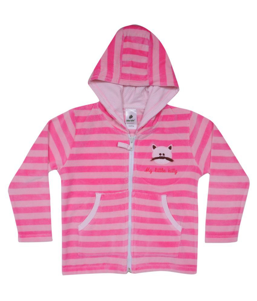 Bio Kid Pink Front Open Sweatshirts