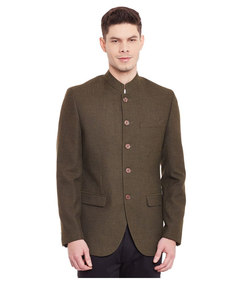 Envoy Brown Plain Wedding Blazers